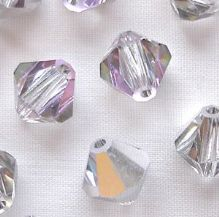 8mm Preciosa Crystal Bicone Vitrail Light - 10